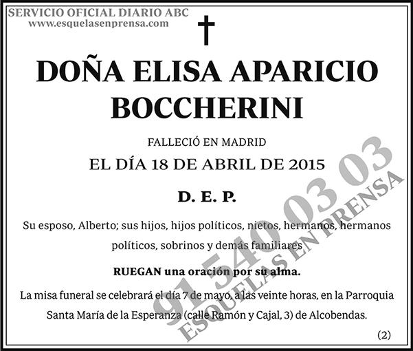 Elisa Aparicio Boccherini